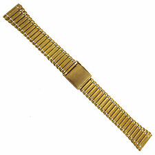 19 or 20mm Hirsch Bijou Gold Tone Stainless Steel Two Piece Mens Watch Band
