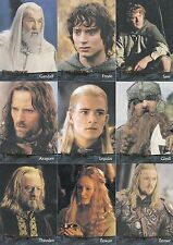 LORD OF THE RINGS RETURN OF THE KING MOVIE 2003 TOPPS BASE CARD SET OF 90