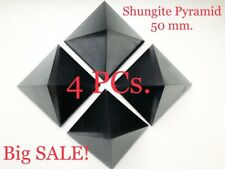 Shungite Pyramid 1.97 in / 50 mm (4 pcs) Wholesale Polished Protection Healing
