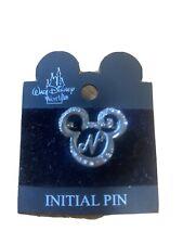 MICKEY Mouse Diamante Spilla con iniziale N-Nuovo e Autentico