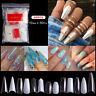 500pcs Artificial Nails French False Half Nail Art Tips Acrylic UV Gel Natural