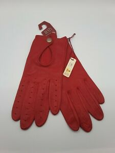 Dents soft red leather gloves size 8 BNWT