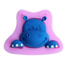 3D Hippo Silicone Fondant Mould Chocolate Sugarcraft Cake Clay Mold Baking DIY