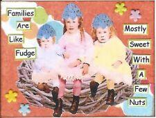 ACEO ATC Art Collage Print Ladies Women Family Girls Fudge Sweet Nuts Bird Nest
