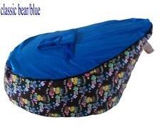 New Bear Canvas Baby infant Bean Bags Snuggle seat bed 2 upper layer No Filling