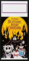 Plakat Alptraum Before Christmas Tim Burton Animation Horror Weihnachten L118