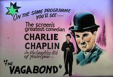 THE VAGABOND / FLOORWALKER Orig Australian cinema glass slides Charlie Chaplin