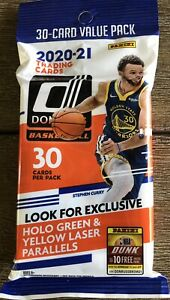 2020-21 DONRUSS BASKETBALL FAT PACK VALUE PACK 30 CARDS QUANTITY AVAILABLE