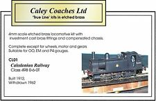 4mm scale. Caledonian Railway Class 498 0-6-0T Locomotive Kit. OO/EM/P4