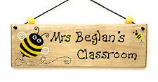 Teachers Gifts Personalised Sign Plaque Classroom Busy Bumble Bee Present