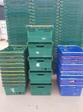 More details for 10 x deep plastic bale arm tray / crate box 60-40-25cm storage / removals