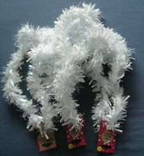 3x 2 metre white tinsel decoration christmas