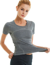 COOLOMG Women Compression Short Sleeve T-Shirts Baselayer Sports Workout Shirt