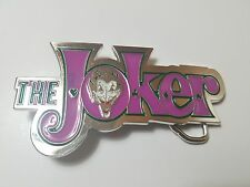 THE JOKER BATMAN DARK KNIGHT 3D BELT BUCKLE SILVER FINISH COMICS COSTUME