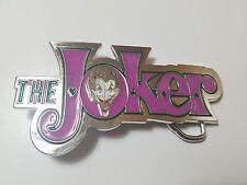 THE JOKER BATMAN DARK KNIGHT 3D BELT BUCKLE SILVER FINISH COMICS COSTUME