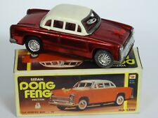 """VOITURE DONG FENG RED SEDAN CAR TIN FRICTION TOY MF-032 CHINA ~ 6"""""""