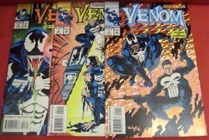VENOM FUNERAL PYRE 1-3 MARVEL COMIC SET COMPLETE SPIDER-MAN LYLE HANNA 1993 NM