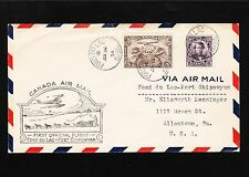Canada 1st Flight 1934 Fon du Lak - Fort Chipewyan & BACK Air Mail TWO COVERS 3v