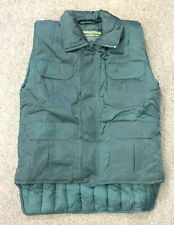 FREEZER VEST new XS SIZE green QUILTED warm & water resistant