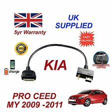 For KIA Proceed iPhone 3 3gs 4 4S iPod USB & 3.5mm Aux Cable pre 09-11