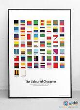 Comic Book Characters Poster - Pantone chart poster / art / print - Superheros