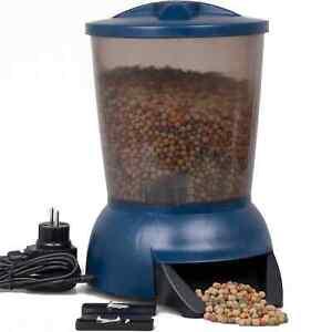 AquaForte Fisch & Koi Futterautomat 5 Liter für Pellet Futter Fishfeeder Teich