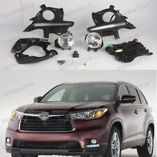 LED fog lamp cover DRL daytime running light For Toyota Highlander 2014-2015
