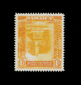 ***REPLICA*** of Jamaica 1920 - 1s org-red/org-yel SG 85a - center inverted