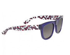 NWT GUCCI GG1100/s Dark Blue Red Clear/Grey  Sunglasses 51-24-145 Made In Italy