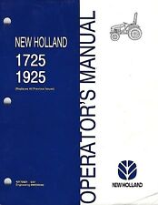 NEW HOLLAND 1725 1925 TRACTOR OPERATOR MANUAL 42172521
