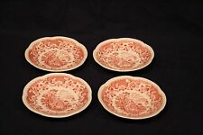 Wood's Burslem England Pink Seaforth Set of 4 Bowls Good Condition