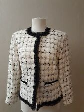 Neimen Marcus Exclusive  Gorgeous Black& White Sparkly Blazer  Jacket Sz 4