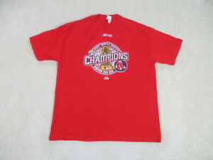Boston Red Sox Shirt Adult Extra Large Red White Baseball World Series Mens B15