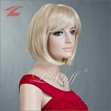 ZNL Perücke Blond Haar Wigs Weiblich Glatt Kurz Frau Cosplay Kostüm Kurze Haare