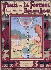 Fables de la fontaine benjamin Rabier Tallandier reprint de l'édition de 1906