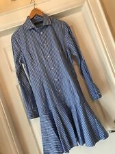 Polo Ralph Lauren Ladies Summer Strip Shirt Dress NEW With Tags Size 10