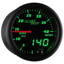 MaxTow 52mm Black & Green  High Pressure Oil Pressure HPOP Gauge - MT-DV21
