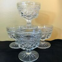 Dessert Bowls Set of 4 Glass Icecream Bowls Vintage T18Office