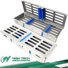German Dental Autoclave Sterilization Cassette Tray Box Rack For 5 Instruments