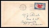 1938 US Cover - Air Mail SCOTT# C23, St Petersburg, FL to Coffeyville, Kansas J2