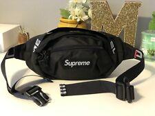 🔥Brand New Supreme Black Waist/Shoulder Bag Fanny Pack for Women & Men Unisex