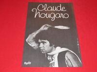 Coll.j. LE BOURHIS Cartel Show / Claude Nougaro 1977 Barclay Pluma Ángel