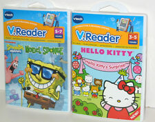 2 Lot VTech Vreader Learning Games Hello Kitty & Spongebob Squarepants NEW