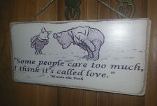Winnie The Pooh Picture Quote Sign , Plaque. Solid Wood. Shabby chic gift. #P6