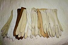 8 Pairs Vintage Gloves from England (6 Kid 2 Cloth) For Crafting or Display