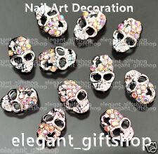 Alloy Jewelry Nail Art Decoration Multi_color Skull Glitter Rhinestones #Ea_144