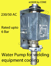 230/50 AC water pump used to cool welding torch MIG TIG PLASMA et3009 CEME.  UK