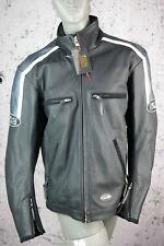 Ixs Blouson Moto, Leder- Veste, Cuir Véritable, Noir, Gris, Taille XXL, Neuf