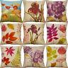 "18"" Cotton Linen Flower Printing Pillow Case Cushion Cover Sofa Home Decor"
