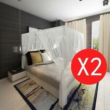vidaXL 2x Moskitonetz Betthimmel Mückennetz Insektennetz Fliegennetz Bett Netz